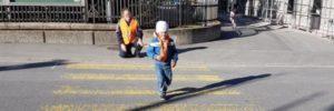 Verkehrsunterricht im Kindergarten